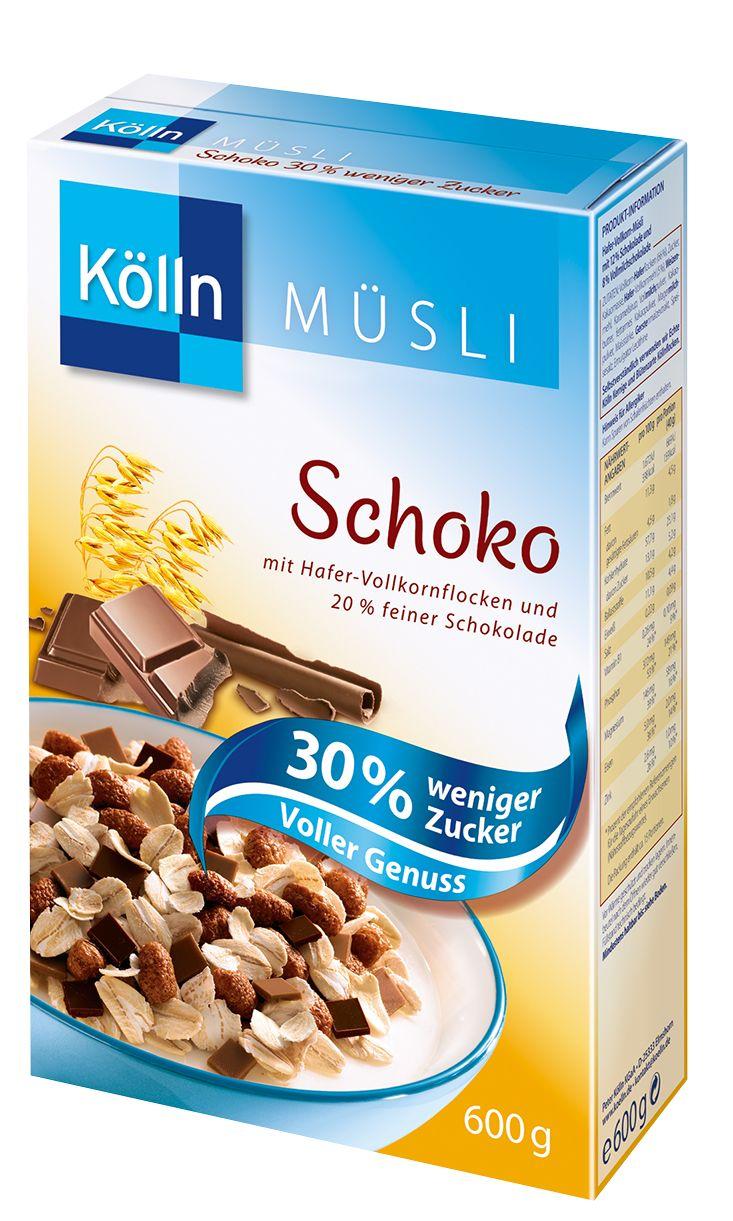 "Kölln Müsli Schoko ""30% weniger Zucker"""