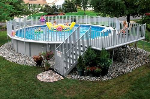 Outdoor:Above Ground Pool Deck Ideas And Provincial Above Ground Pool Deck Ideas