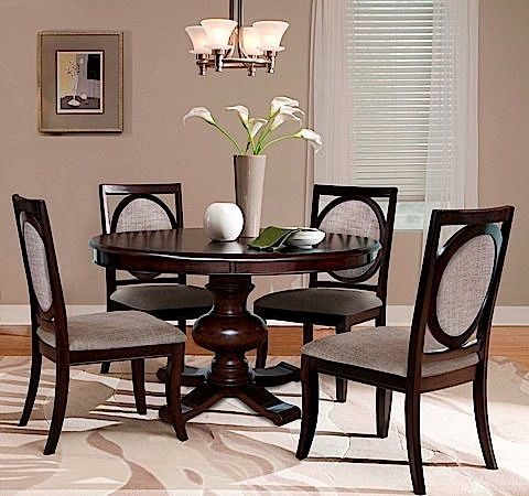Decorate Your Dining Room With This Modern Birch And Cherry Furniture Set