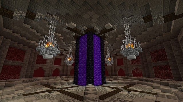 Nether Hub Vanilla Survival Minecraft Map With Images