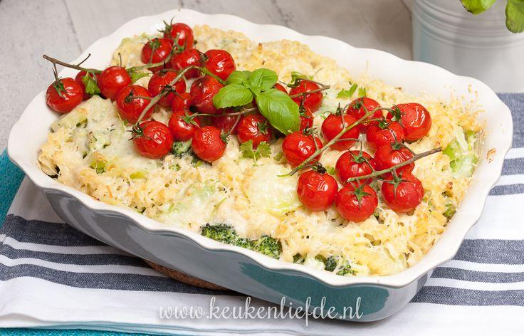 Zet eens wat vaker vis op tafel. Deze pasta-ovenschotel met vis, broccoli en Boursin is snel gemaakt en ontzettend lekker!