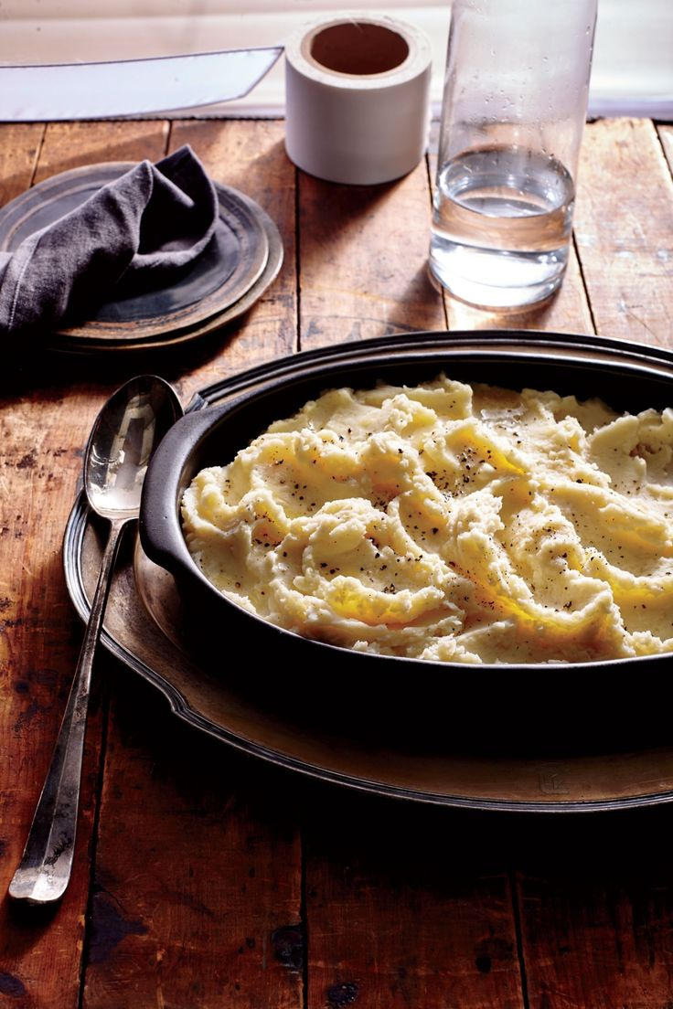 Buttermilk Mashed Potatoes | MyRecipes  Keep mashed potatoes warm by placing in a heatproof bowl, covering with plastic wrap, and setting over a saucepan of gently simmering water. This will keep them moist and warm without scorching. If you don't have a ricer, use a potato masher, being careful not to overwork the potatoes.