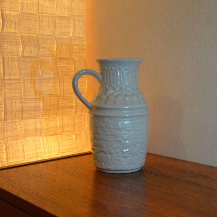 Jasba (1926 – 1975 decorative ceramics) Model: 7706 78 (or 1706 18) Ransbach-Baumbach, Germany (West).  Vase - European - Pottery - ceramics - mid centery