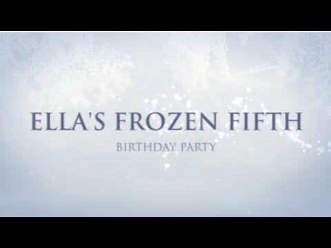 Frozen Birthday Party Video Invitation - YouTube