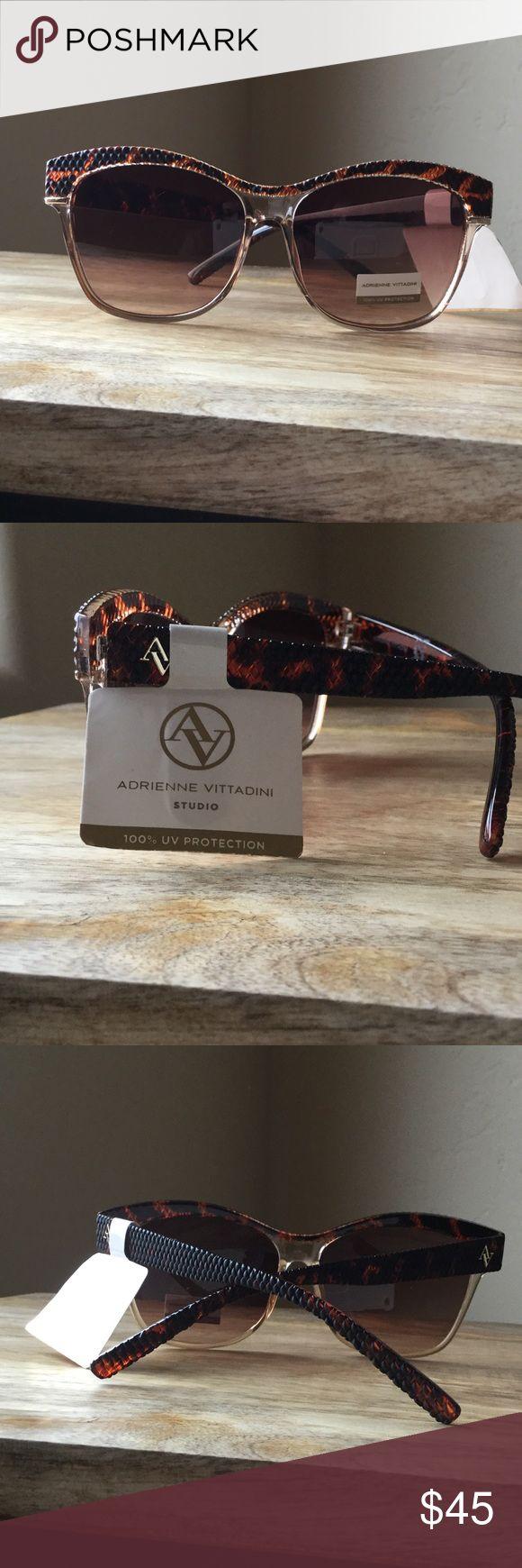 💎Adrienne Vittadini Sunglasses💎 Adrienne Vittadini sunglasses. 100% UV protection. Orange-brown frame. New with tag!! Adrienne Vittadini Accessories Sunglasses