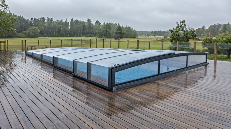 SMART pool cover - POPP - PRESTIGE P7 - with integrated solar motor - without leading rail - opening the cover with just one touch