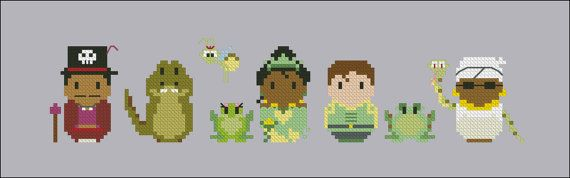 The Princess and the Frog parody Cross stitch by cloudsfactory