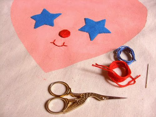 misako mimoko: SHOP / Embroidery Kit n.1- Star Lite Tote bag