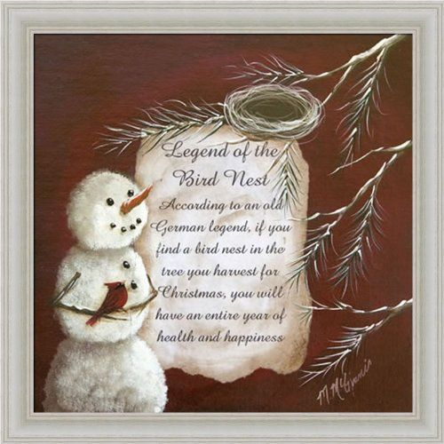 Legend Of The Christmas Tree Poem: Legend Of The Bird Nest By Margie McGinnis Country Snowman