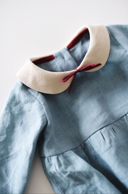 Handmade Long Sleeved Linen Baby Romper | TsiomikKids on Etsy