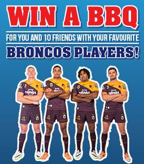 Broncos NRL have a way for fans to win a team BBQ