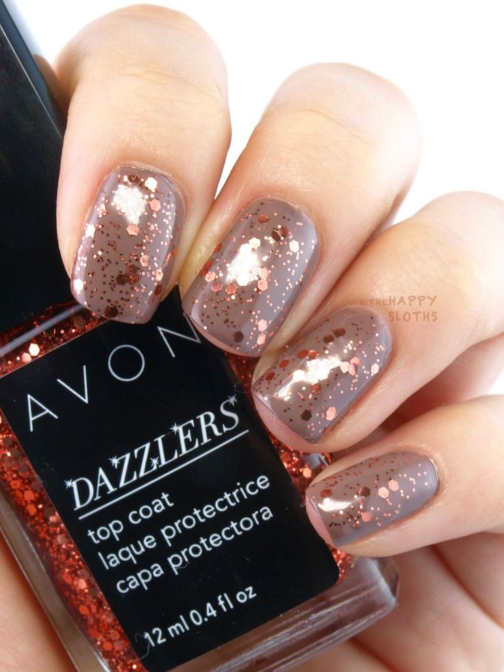 Avon Dazzlers Top Coat: Review and Swatches Show Stopper Copper
