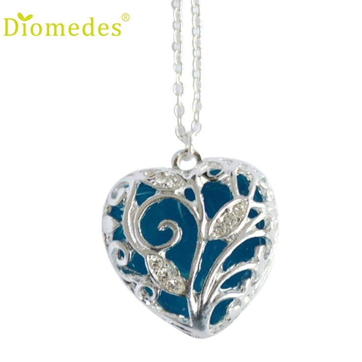 Diomedes 2 Colors Fashion Women Magical Aqua Blue Tree Heart Glow In The Dark Pendant Necklace Gift Jewelry Necklace *0104 //Price: $US $1.00 & FREE Shipping //     #hashtag4