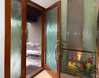 Slumped glass doors by Nolan Everitt