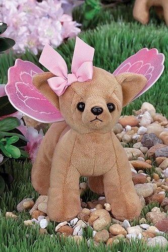 New BEARINGTON Plush Toy CHIHUAHUA Stuffed PUPPY DOG Pink FAIRY BUTTERFLY WINGS