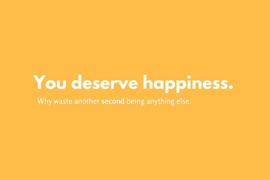 #AFFIRMATION: YOU DESERVE HAPPINESS!  We believe #success is possible by working your #career, life, & goals DAILY.  Don't you think it's time you put your foot down & achieved the happiness you deserve (if you're already happy, make more of it)!