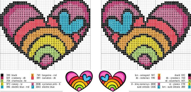 patrones de llaveros a punto de cruz (pág. 6) | Aprender manualidades es facilisimo.com