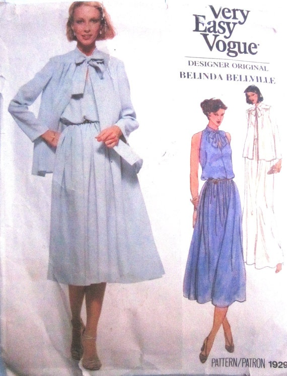 Vogue 1929 Womens Dress Jacket Sewing Pattern by Denisecraft, $12.99