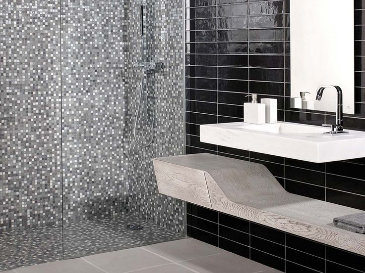 Beautiful porcelanosa mosaic mini iris stone grey wall for Linea carrelage