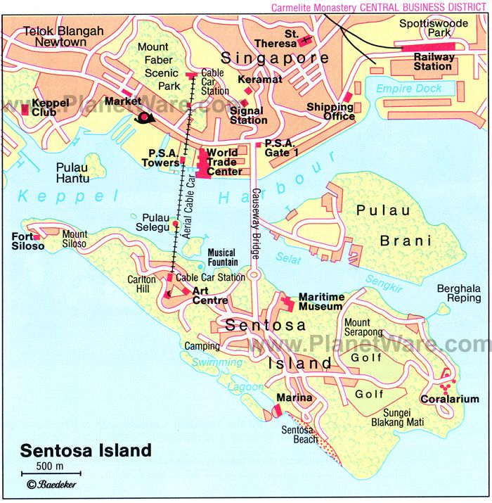 Awesome Map of Sentosa Island | PlanetWare pic #Sentosa #Island