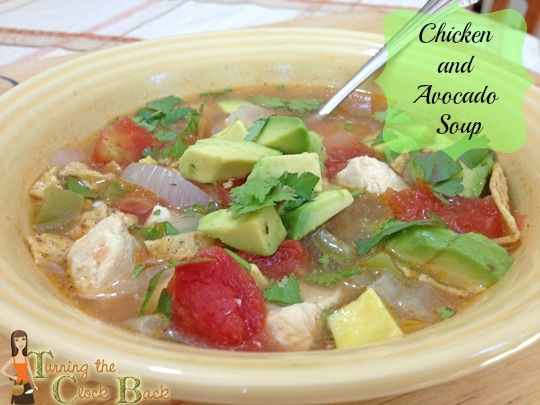 Chicken and Avocado Soup! Makes a delicious and EASY #CincodeMayo # ...