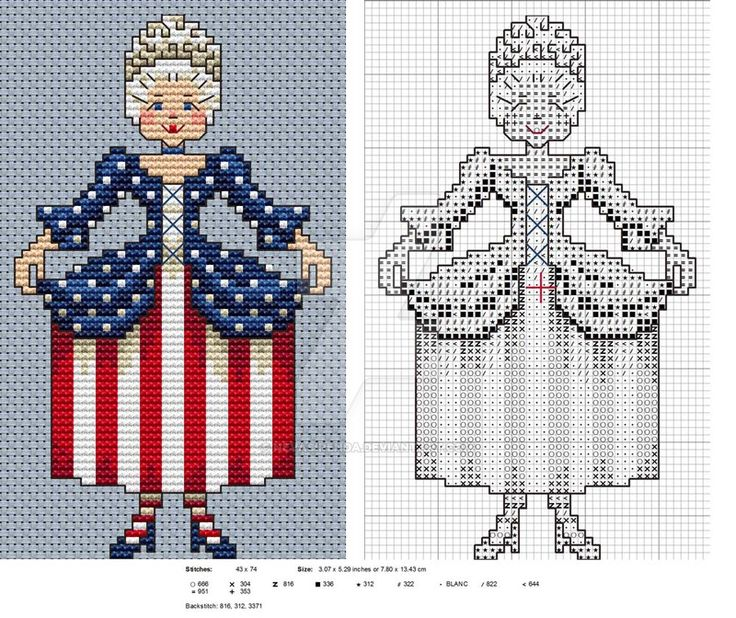 Little Lady Liberty & Miss Canadiene by Neva Sirenda • plus there are other designs as well