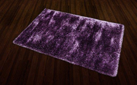 Luxus lila ezüstözött shaggy szőnyeg 125x200 cm