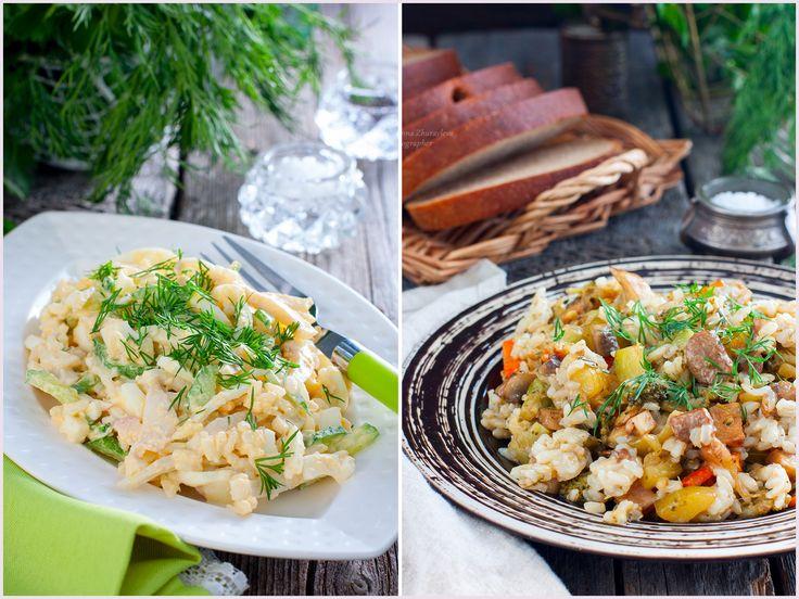 Ensalada de calamares con arroz. В меню сегодняшнего обеда салат и бурый рис с овощами. Всё очень просто и по-домашнему))). САЛАТ С КАЛЬМАРАМИ Совсем простой рецепт салата,который хоть раз готовил каждый)): кальмары 2 тушки рис отварной 2 ст.л. лук репчатый 1/2 луковицы (маленькой) яйца 2 шт.(отварить) огурец свежий 1 шт.…
