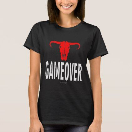 Game Over & Bull by VIMAGO T-Shirt - cool gift idea unique present special diy