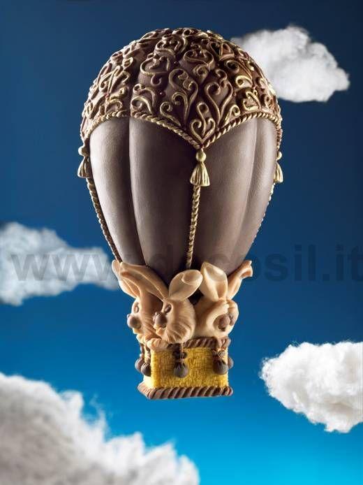 Stampo per uova di Pasqua a forma di mongolfiera. www.decosil.it