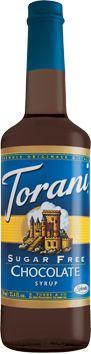 This makes me smile daily! Torani (Sugar-free) Chocolate Syrup.