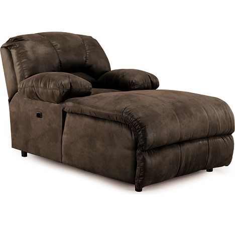 Indoor oversized chaise lounge bandit pad over chaise 2 for Ashley chaise lounge recliner