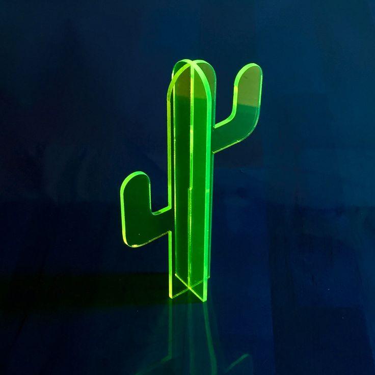 Small Florescent Acrylic Cactus