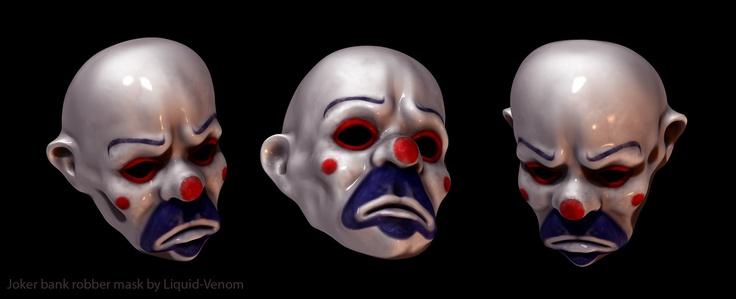 Joker robber mask sculpt by liquid-venom.devi...