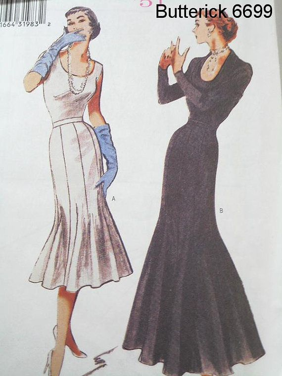 Butterick 6699 Sewing Pattern 1951 Vintage Style Trumpet