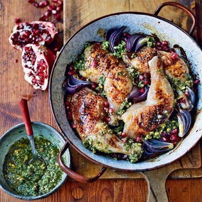 Chicken with Walnut Pesto
