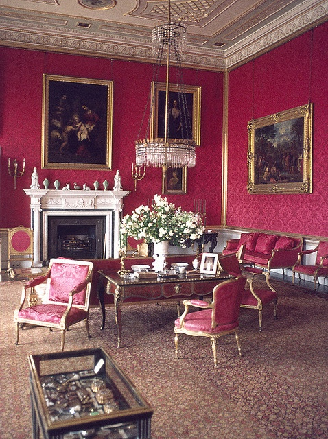 The Salon at Ragley Hall [A red room, a blue room, a morning room, etc..)