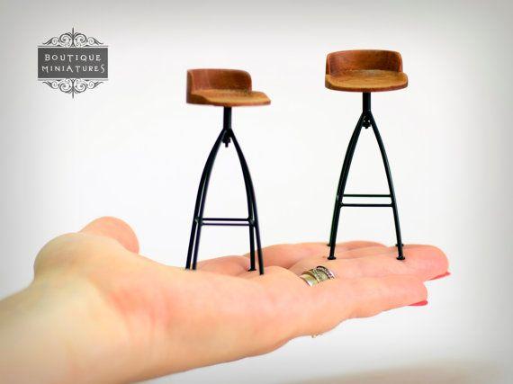 Taburete de bar de miniatura contador por BoutiqueMiniatures