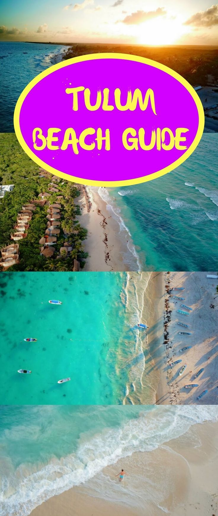 Tulum, Mexico has some of the best beaches in the world. This ultimate guide has everything you need to know about visiting Tulum's beaches. #Tulum #beaches