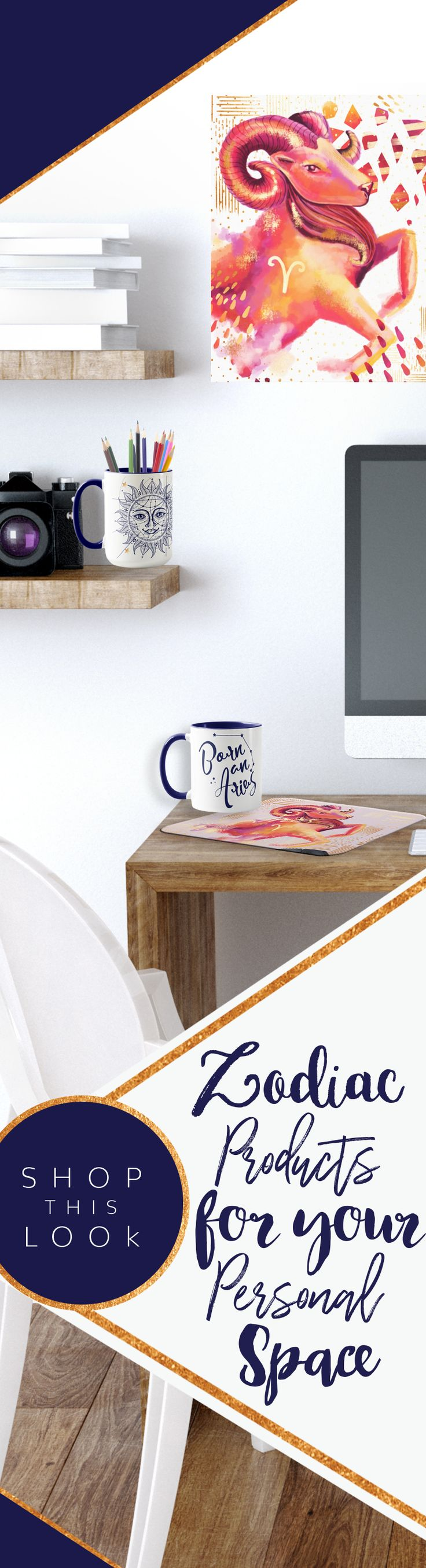 Personalize your #OfficeSpace with our personalized #Zodiac #Zazzle products! #Mugs #Mousepads #WallArt #Pencilcases and so much more!