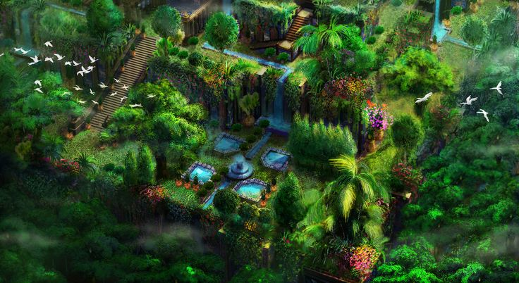 babylon's hanging garden for 3D modeler(EBS)/ 2~3day/copyright-atents