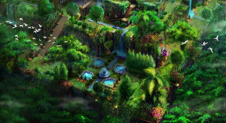 babylon's hanging garden for 3D modeler(EBS)/ 2~3day/copyright-atents