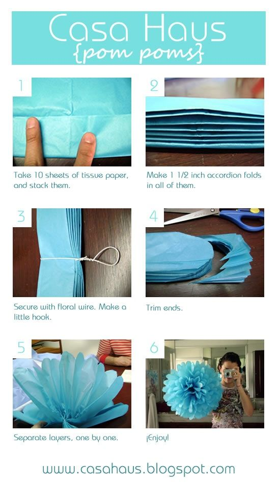 Puff ball decor for parties - turquoise, red and white would be great for Dr. Seuss