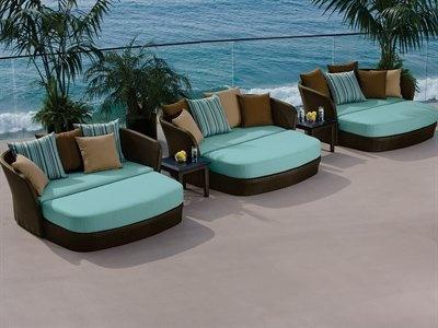 Amazon Com Tropitone Mia Cushion Patio Wicker Lounge Set 400 x 300