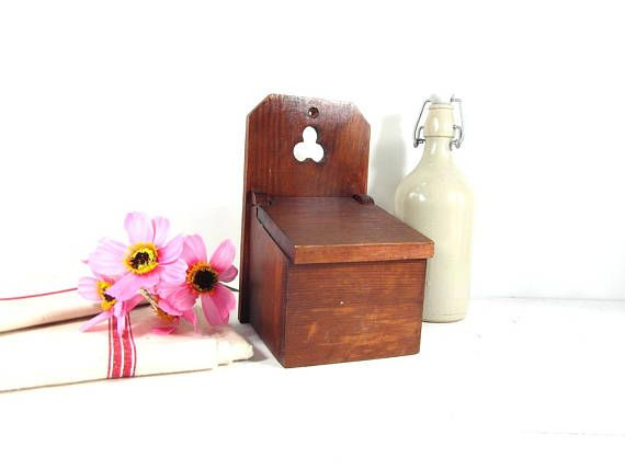 French vintage wooden box with lid wooden box kitchen box