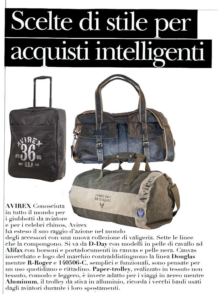 "#Avirex bags are on ""Patrimoni"" magazine!"