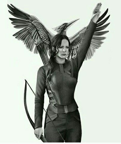 The Hunger Games-Katniss Everdeen-played by Jennifer Lawrence