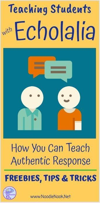 How to teach students with Echolalia- actual tips that work! Repinned by SOS Inc. Resources pinterest.com/sostherapy/.