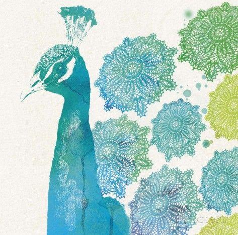 Party For One Peacock 2 - Posters av Z Studio på AllPosters.se