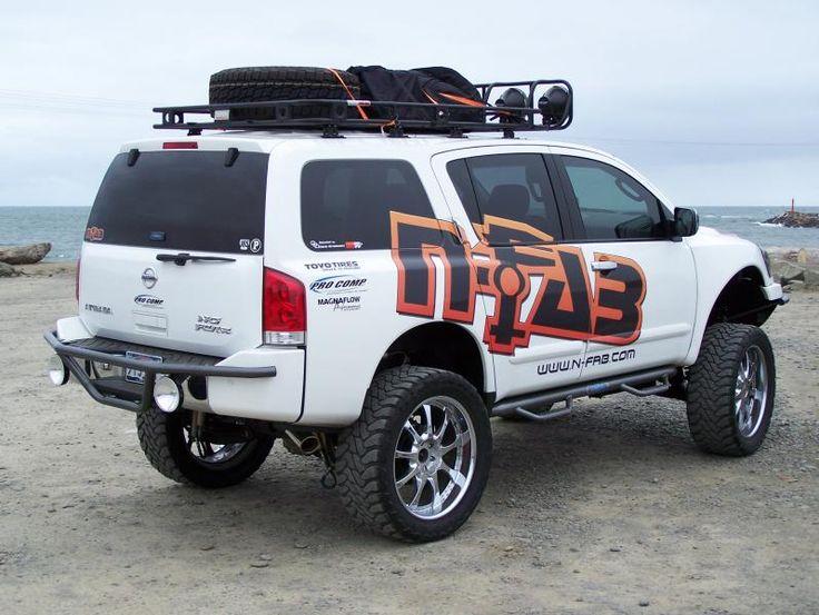 Jacked Nissan Armada. See More. Armarda Rack